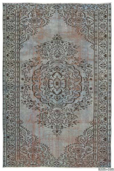 "Over-dyed Turkish Vintage Rug - 5'4"" x 8'2"" (64 in. x 98 in.)"