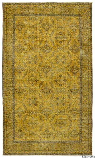 "Over-dyed Turkish Vintage Rug - 5'7"" x 9'8"" (67 in. x 116 in.)"