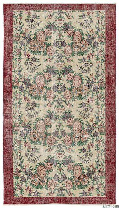 "Turkish Vintage Area Rug - 3'9"" x 6'9"" (45 in. x 81 in.)"