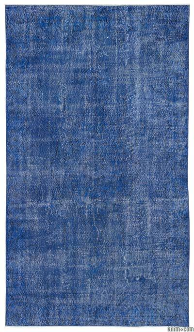Over-dyed Turkish Vintage Rug - 5'9'' x 10' (69 in. x 120 in.)