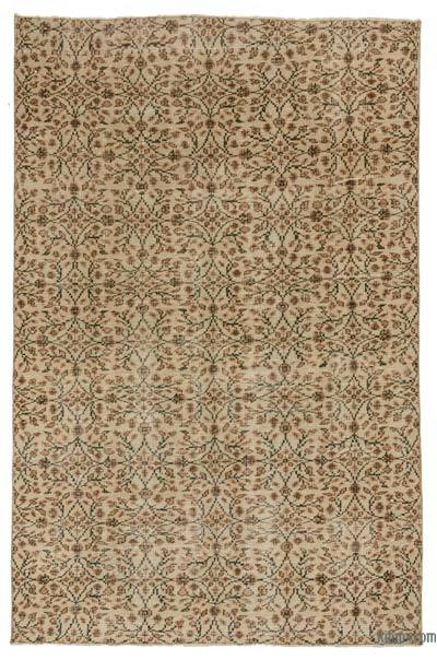 Turkish Vintage Area Rug - 5'2'' x 7'11'' (62 in. x 95 in.)