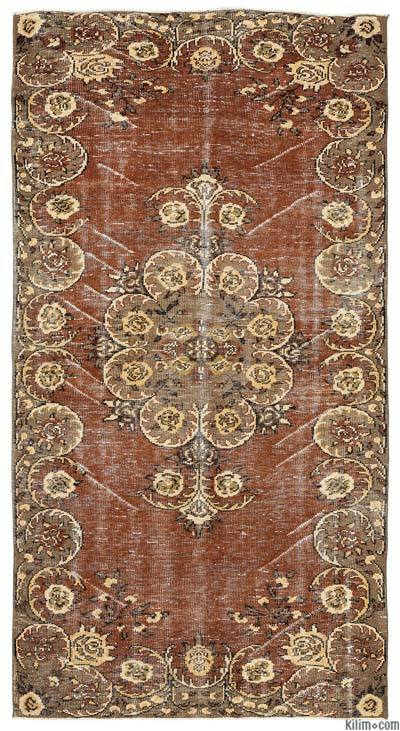 Turkish Vintage Area Rug - 4'8'' x 9' (56 in. x 108 in.)