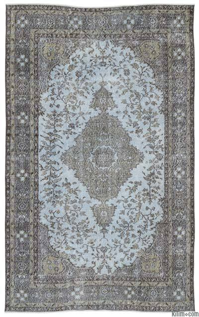 Turkish Vintage Area Rug - 6'2'' x 9'8'' (74 in. x 116 in.)