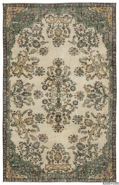 "Turkish Vintage Area Rug - 5'9"" x 9' (69 in. x 108 in.)"