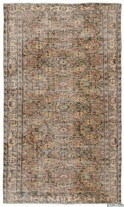 Turkish Vintage Area Rug - 5'8'' x 9'8'' (68 in. x 116 in.)