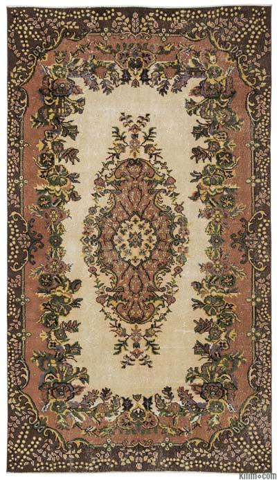 Turkish Vintage Area Rug - 5'9'' x 10'1'' (69 in. x 121 in.)