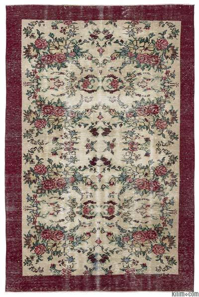 "Turkish Vintage Area Rug - 5'10"" x 9' (70 in. x 108 in.)"