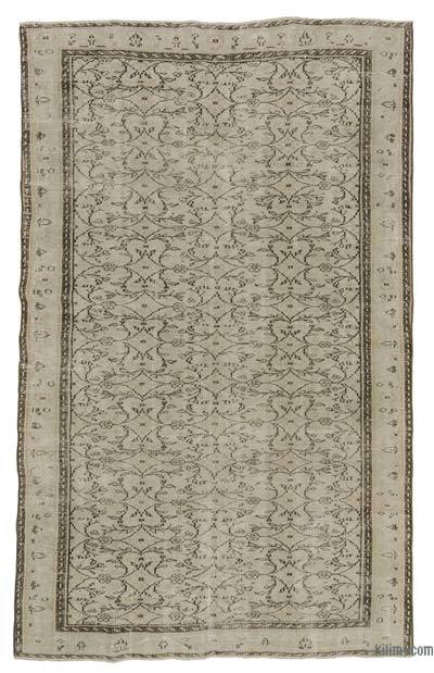 Turkish Vintage Area Rug - 5'6'' x 8'9'' (66 in. x 105 in.)