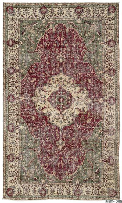 "Turkish Vintage Area Rug - 6' x 10'5"" (72 in. x 125 in.)"