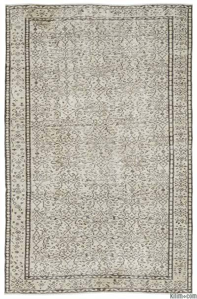 "Over-dyed Turkish Vintage Rug - 5'11"" x 8'10"" (71 in. x 106 in.)"