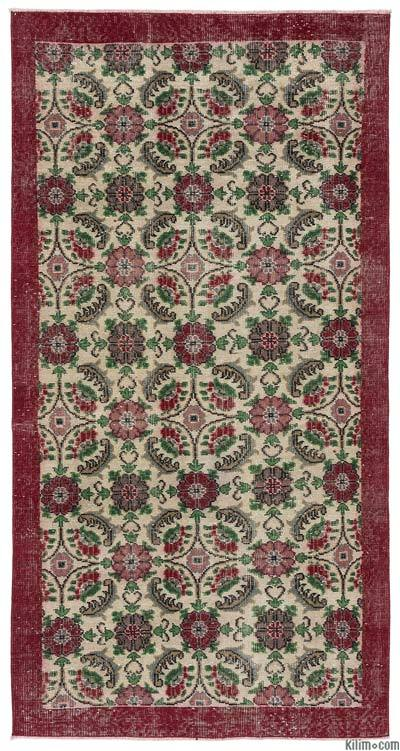 "Turkish Vintage Area Rug - 3'6"" x 6'11"" (42 in. x 83 in.)"