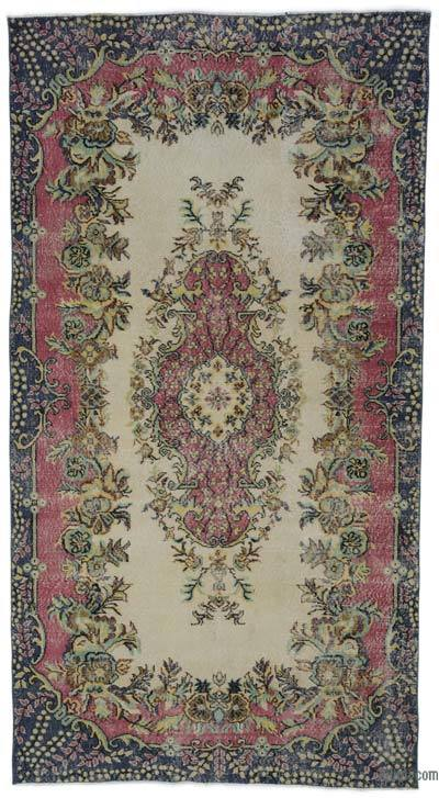 "Turkish Vintage Area Rug - 5'5"" x 10'3"" (65 in. x 123 in.)"