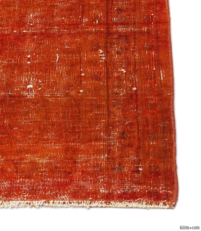 K0013218 Orange Over-dyed Vintage Rug