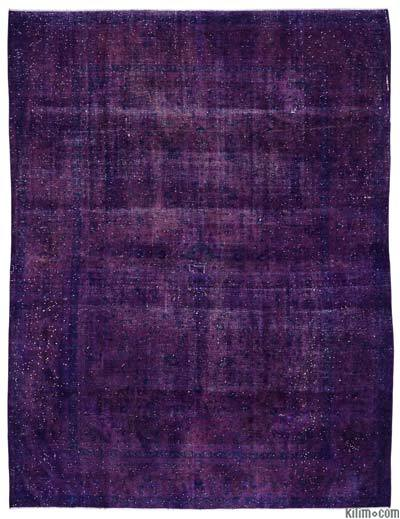Purple Over-dyed Vintage Rug - 9'6'' x 12'6'' (114 in. x 150 in.)