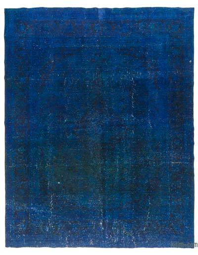 Blue Over-dyed Vintage Rug - 9'9'' x 12'6'' (117 in. x 150 in.)