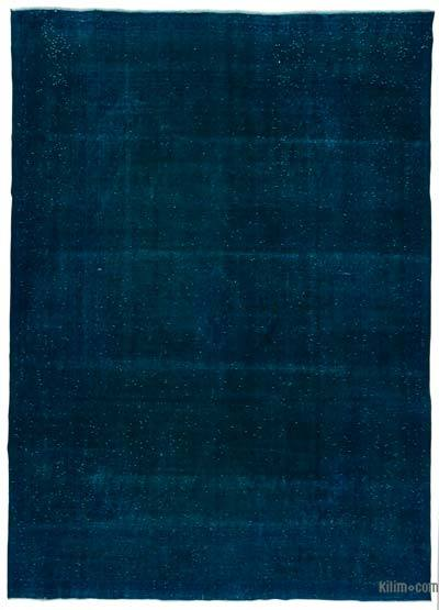 Turquoise Over-dyed Vintage Rug - 9'7'' x 13'1'' (115 in. x 157 in.)
