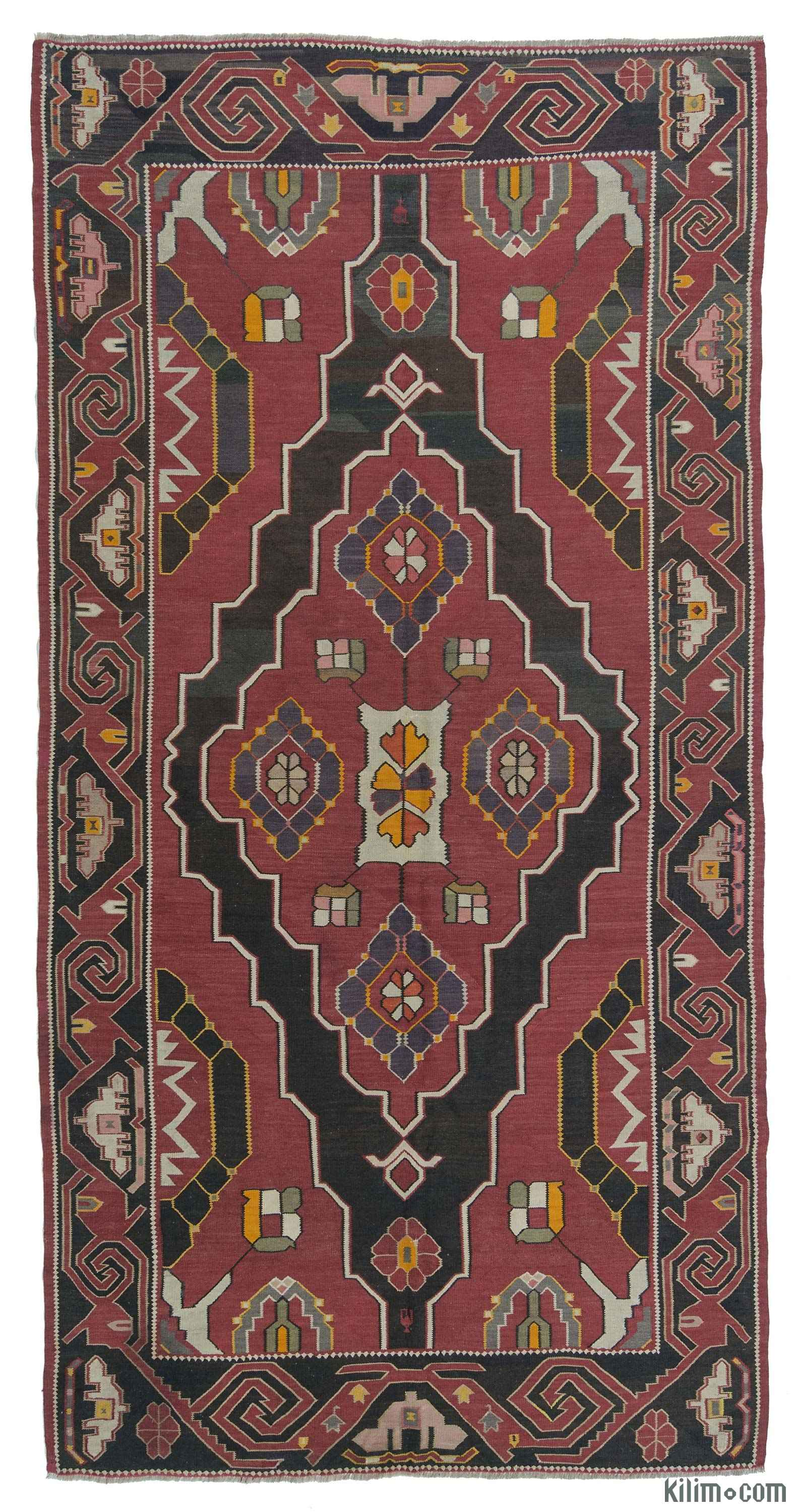 Rugs And Kilims Are The Master Elements Of Bohemian Style: K0013266 Red Vintage Avar Kilim Rug