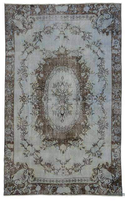 Turkish Vintage Area Rug - 5'7'' x 9'3'' (67 in. x 111 in.)