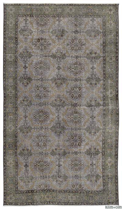 Turkish Vintage Area Rug - 5'6'' x 9'8'' (66 in. x 116 in.)