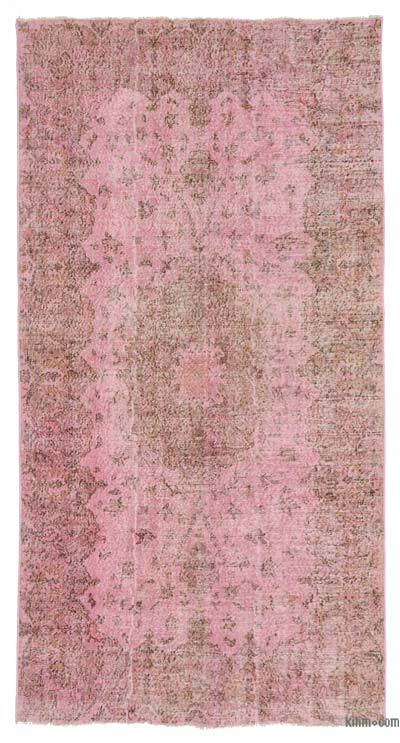 "Over-dyed Turkish Vintage Rug - 5'3"" x 9'11"" (63 in. x 119 in.)"