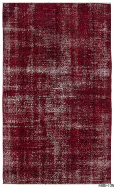 "Over-dyed Turkish Vintage Rug - 4'10"" x 8' (58 in. x 96 in.)"