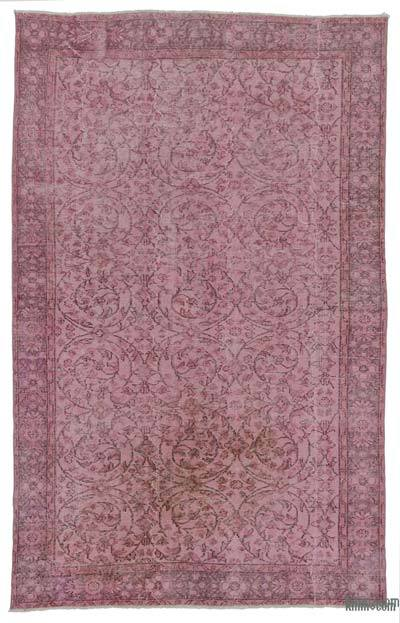 Pink Over-dyed Turkish Vintage Rug - 5'1'' x 8'4'' (61 in. x 100 in.)
