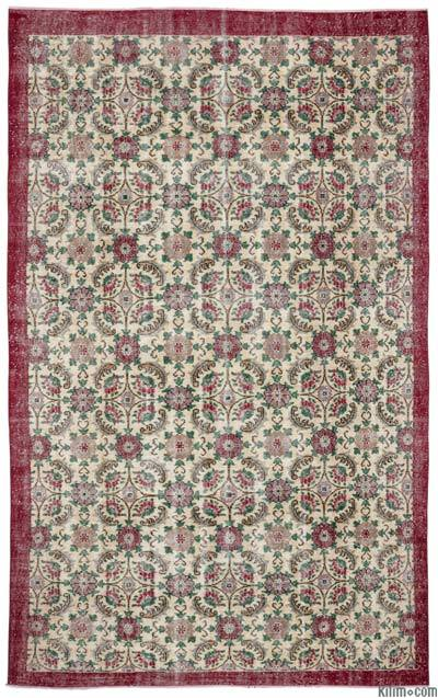 "Turkish Vintage Area Rug - 6'5"" x 10'5"" (77 in. x 125 in.)"