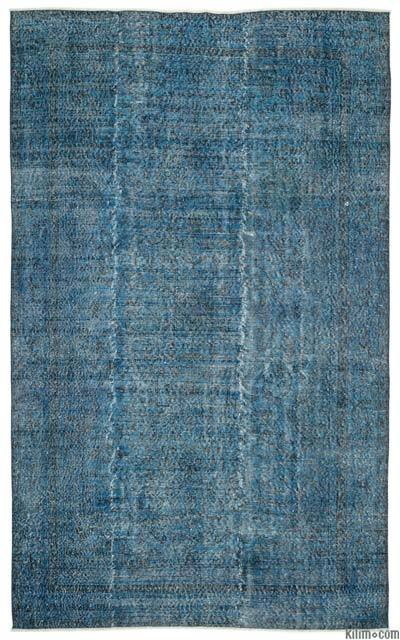 Over-dyed Turkish Vintage Rug - 6'5'' x 10'4'' (77 in. x 124 in.)