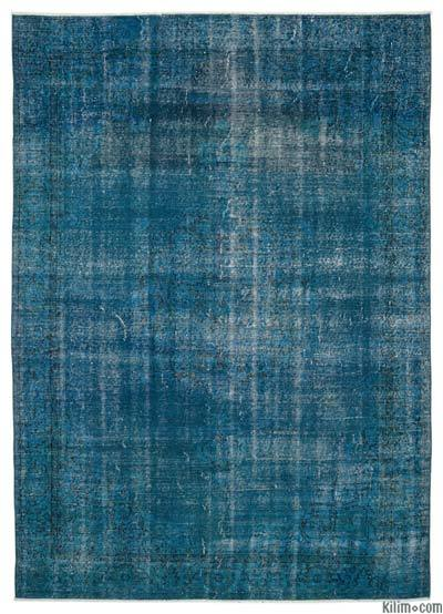 Over-dyed Turkish Vintage Rug - 6'6'' x 9'1'' (78 in. x 109 in.)