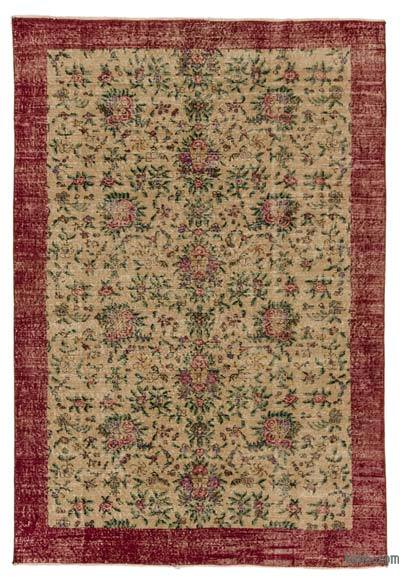 Turkish Vintage Area Rug - 5'5'' x 7'11'' (65 in. x 95 in.)