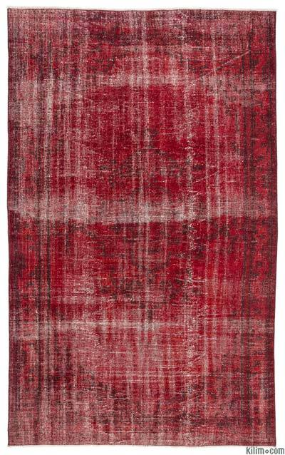 Over-dyed Turkish Vintage Rug - 5'3'' x 8'6'' (63 in. x 102 in.)