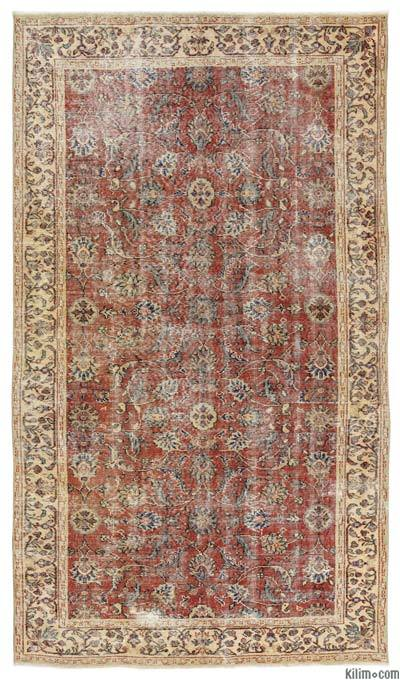 "Turkish Vintage Area Rug - 4'11"" x 8'8"" (59 in. x 104 in.)"