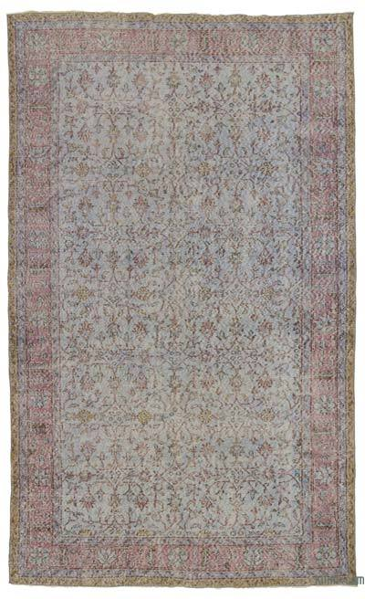 Turkish Vintage Area Rug - 5'7'' x 9'8'' (67 in. x 116 in.)