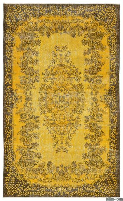 Over-dyed Turkish Vintage Rug - 5'8'' x 9'5'' (68 in. x 113 in.)