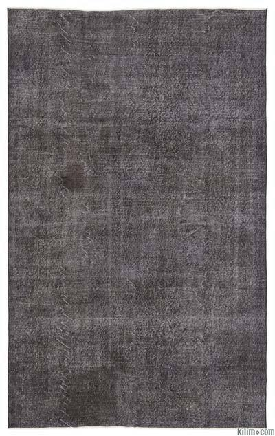 Grey Over-dyed Turkish Vintage Rug - 6'1'' x 10'2'' (73 in. x 122 in.)