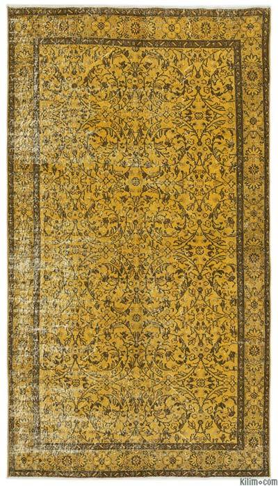 Over-dyed Turkish Vintage Rug - 4'11'' x 8'10'' (59 in. x 106 in.)