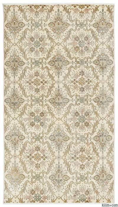 Turkish Vintage Area Rug - 3'10'' x 6'11'' (46 in. x 83 in.)