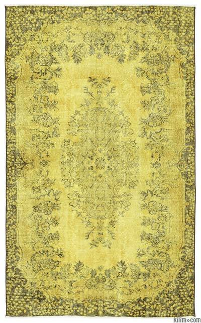 "Over-dyed Turkish Vintage Rug - 5'4"" x 8'9"" (64 in. x 105 in.)"