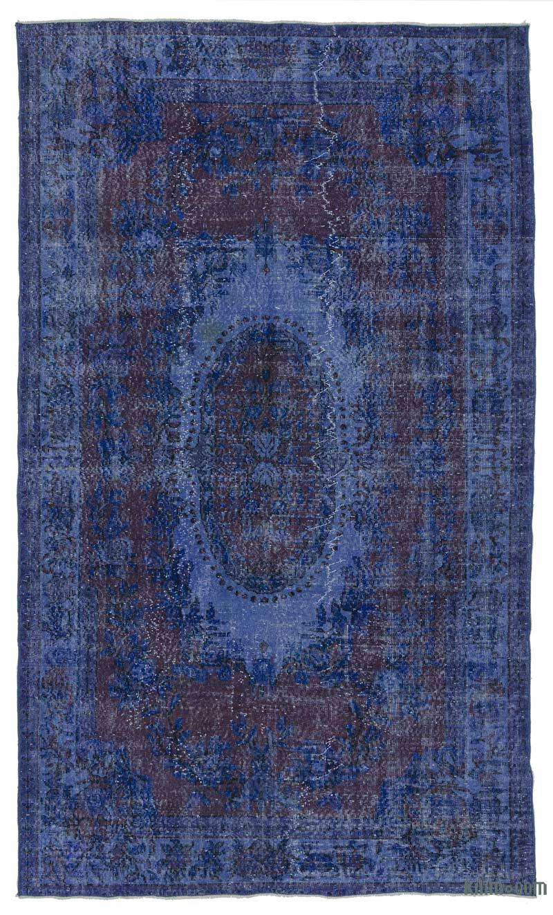 What Is An Overdyed Rug K0013932 Blue Dyed Turkish Vintage Rug Kilim Rugs