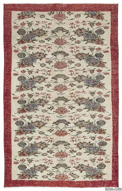 "Turkish Vintage Area Rug - 5'10"" x 9'3"" (70 in. x 111 in.)"
