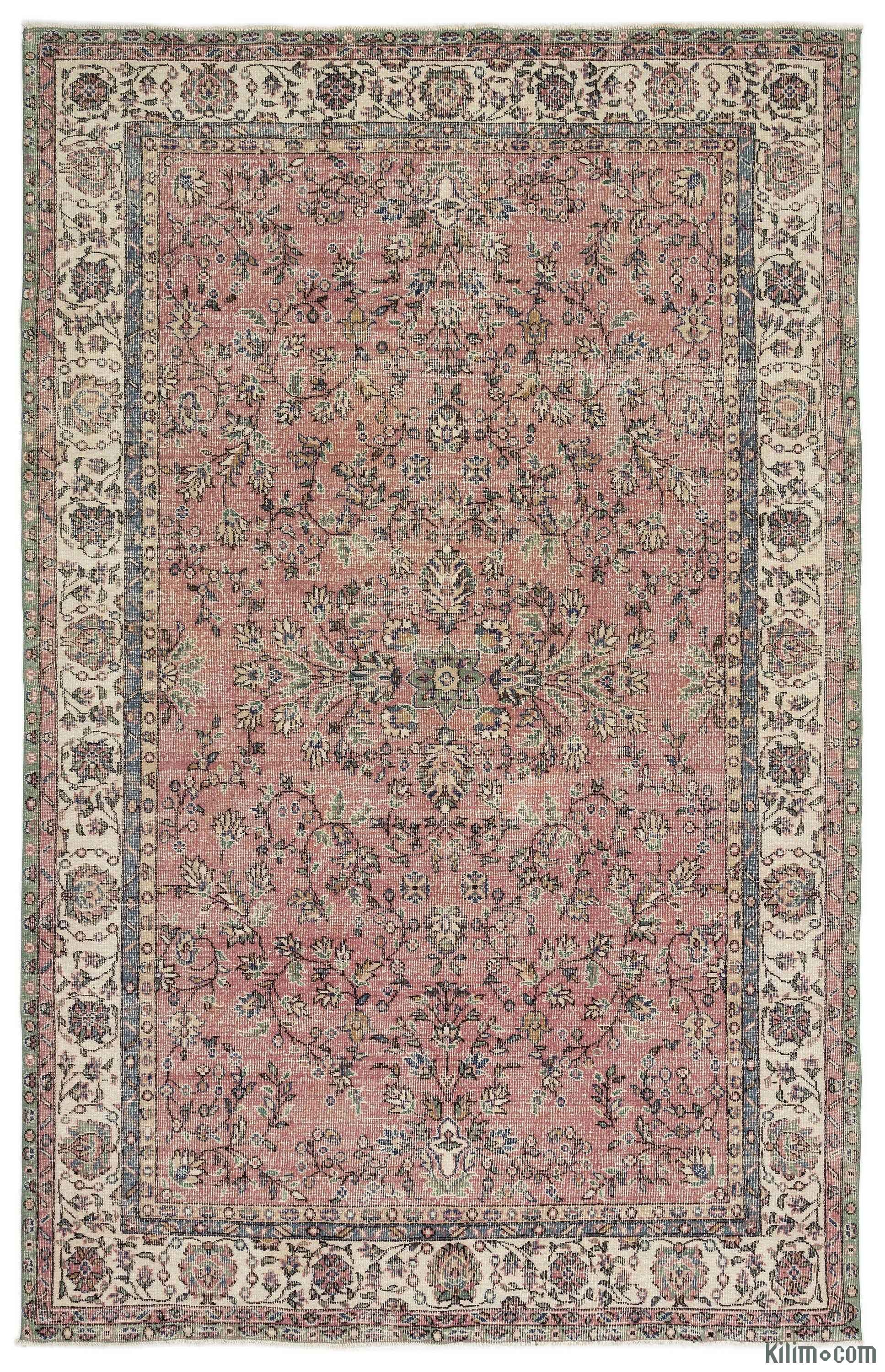 K0014018 Turkish Vintage Area Rug 6 7 Quot X 10 2 Quot 79 In X