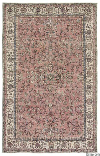 "Turkish Vintage Area Rug - 6'7"" x 10'2"" (79 in. x 122 in.)"