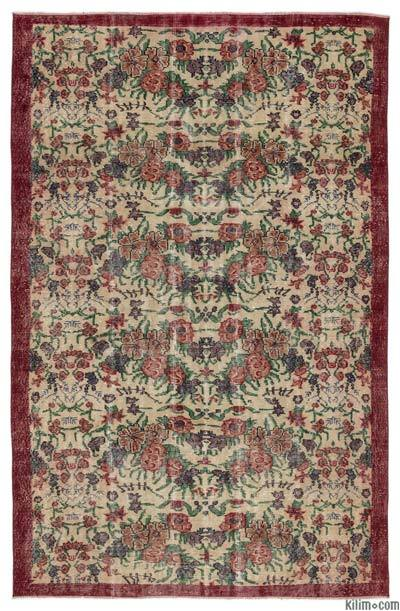 "Turkish Vintage Area Rug - 5'7"" x 8'8"" (67 in. x 104 in.)"