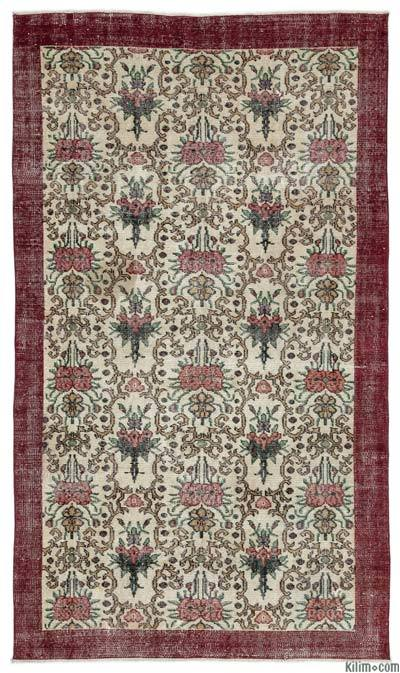 Turkish Vintage Rug - 4'11'' x 8'2'' (59 in. x 98 in.)