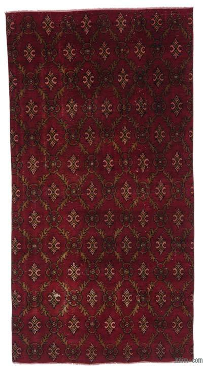 Turkish Vintage Rug - 4'10'' x 9'4'' (58 in. x 112 in.)