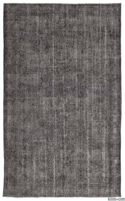 Grey Over-dyed Turkish Vintage Rug - 6'1'' x 10' (73 in. x 120 in.)
