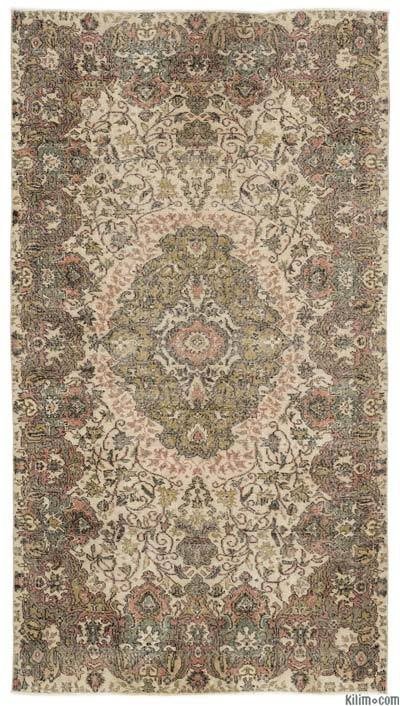 Turkish Vintage Area Rug - 5'1'' x 9'5'' (61 in. x 113 in.)