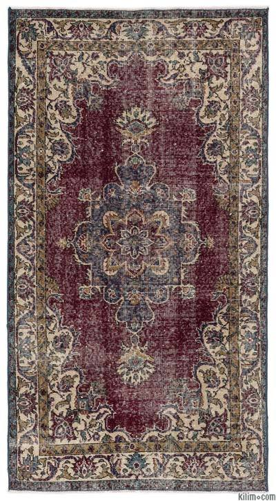 Turkish Vintage Rug - 3'8'' x 6'10'' (44 in. x 82 in.)