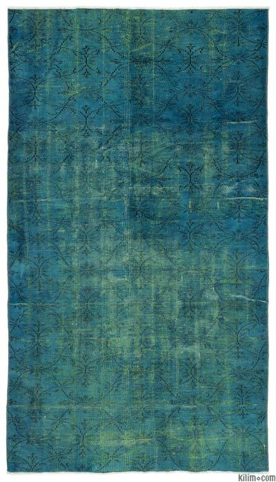 "Over-dyed Turkish Vintage Rug - 4'9"" x 8'6"" (57 in. x 102 in.)"