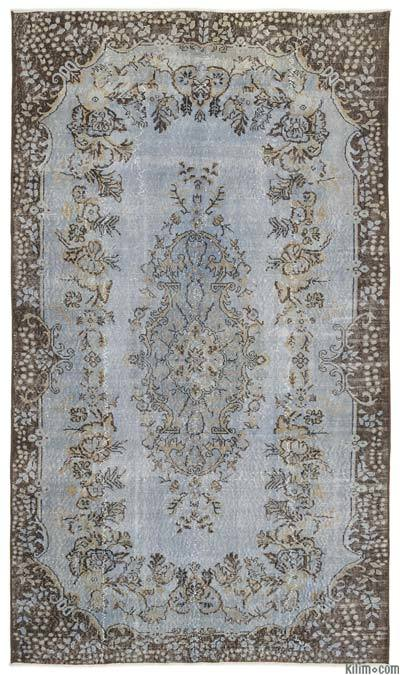 Turkish Vintage Area Rug - 5'6'' x 9'7'' (66 in. x 115 in.)
